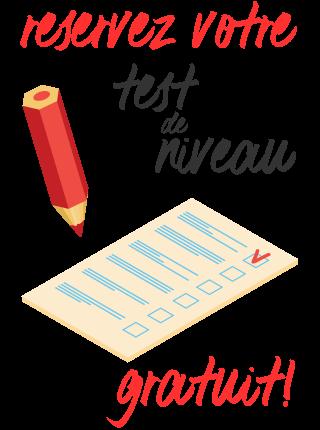 test de niveau adultes avec un professeur