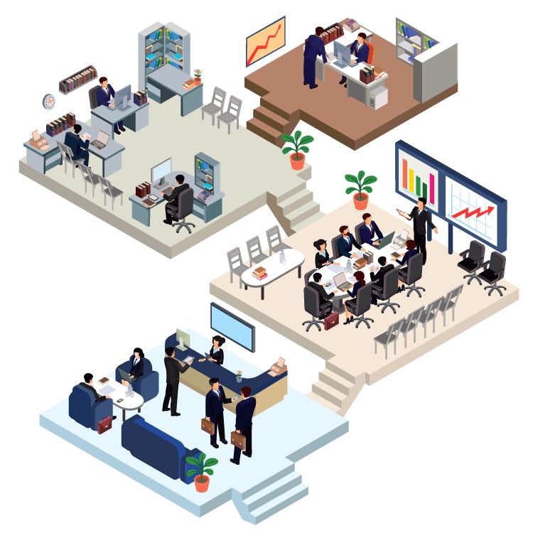 Adultes travail de bureau
